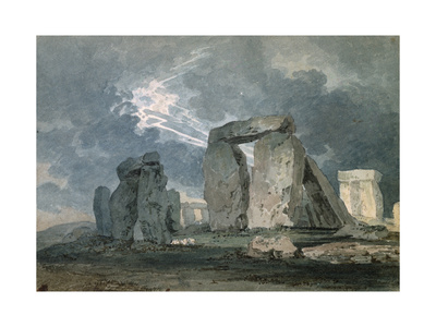 Stonehenge During a Thunderstorm Giclee Print by Thomas Girtin