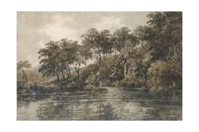 Trees and Ponds Near Bromley, Kent, C.1798 (W/C over Pencil with Bodycolour on Paper) Giclee Print by Thomas Girtin