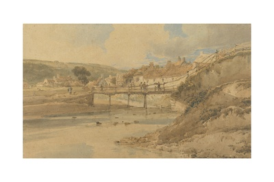 Sandsend, Yorkshire, 1802 (W/C over Graphite on Textured Wove Paper Laid Down on Card) Giclee Print by Thomas Girtin