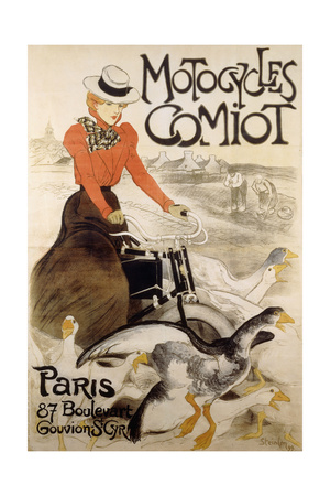An Advertising Poster for 'Motorcycles Comiot', 1899 Giclee Print by Theophile Alexandre Steinlen