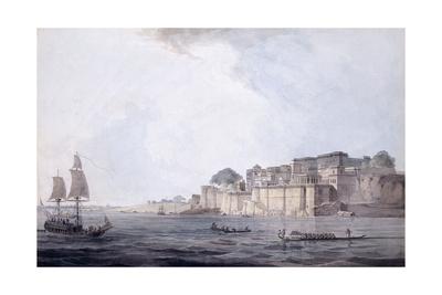 Ramnagar, Near Benares [Varanasi], Uttar Pradesh, C. 1788-9 (Pencil, Pen and Black Ink, W/C) Giclee Print by Thomas & William Daniell