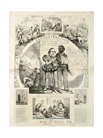 Andrew Johnson's Reconstruction and How it Works, 1866 Giclee Print by Thomas Nast