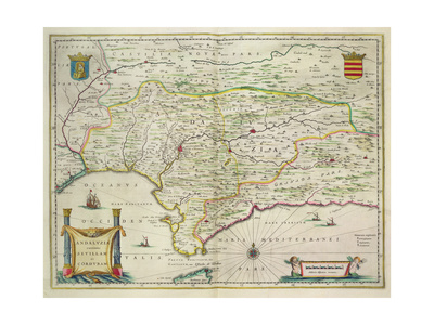 Map of Andalusia, Spain, 1634 Giclee Print by Willem Blaeu