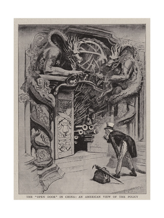 The Open Door in China, an American View of the Policy Giclee Print by William Allen Rogers