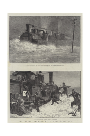 The Great Snow-Storm in Northumberland Giclee Print by William Heysham Overend