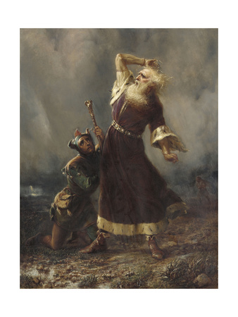 King Lear and the Fool (Shakespeare, King Lear, Act III, Scene II) Giclee Print by William Holmes Sullivan