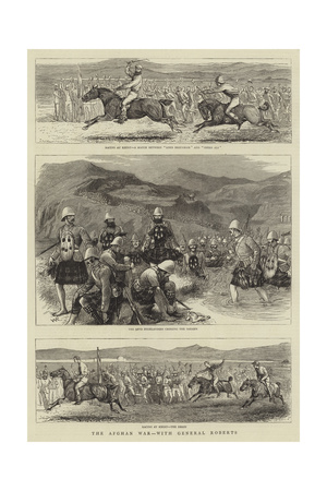 The Afghan War, with General Roberts Giclee Print by William Ralston