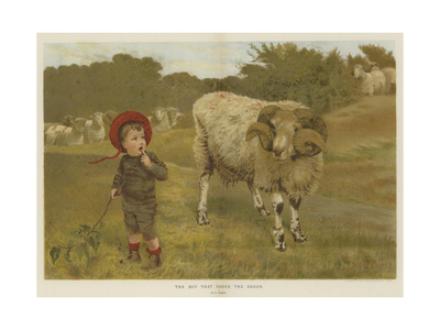 The Boy That Drove the Sheep Giclee Print by William Weekes