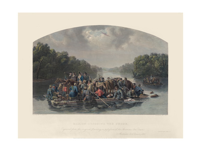 Marion Crossing the Pedee, 1852 Giclee Print by William Tylee Ranney