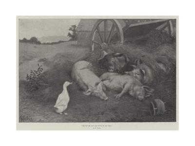 Excuse Me, You are Lying on My Nest Giclee Print by William Weekes