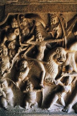Durga Slaying Demon Mahisha Giclee Print