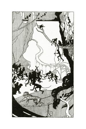 The Building of the Bridge, from 'The Book of Myths' by Amy Cruse, 1925 Giclee Print