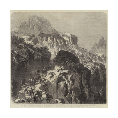 The War, Garibaldians Bringing Up their Artillery on Monte Pagano, in the Tyrol Giclee Print