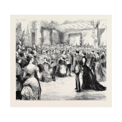 The Prince and Princess of Wales at the Honourable Artillery Company's Ball: the Opening Quadrille Giclee Print