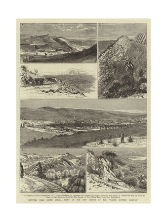 Sketches from South Africa, Views on the New Branch of the North Eastern Railway Giclee Print