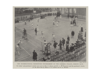 The International Badminton Tournament at the Crystal Palace, 19-20 March Giclee Print