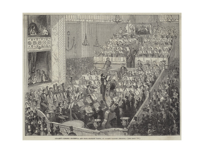 Jullien's Concert Orchestra and Four Military Bands, at Covent Garden Theatre Giclee Print
