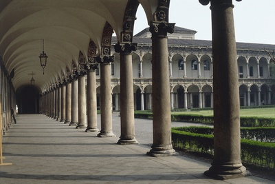 Corridor of an University, Milan State University, Milan, Lombardy, Italy Giclee Print