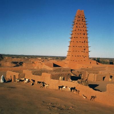 Great Mosque (Unesco World Heritage List, 2013), Agadez, Niger, 16th-19th Century Giclée-tryk