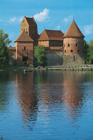 Trakai Island Castle, 14th Century, on an Island in Lake Galve, Lithuania Photographic Print