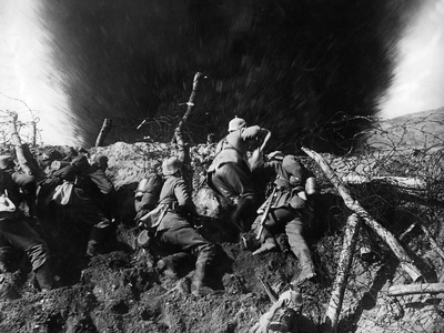 German Infantrymen in a Trench on the Western Front During Wwi, France, 1914-16 Photographic Print