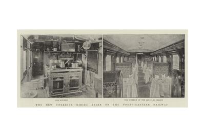 The New Corridor Dining Train on the North-Eastern Railway Giclee Print