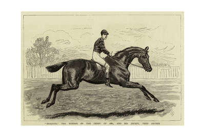 Iroquois, the Winner of the Derby of 1881, and His Jockey, Fred Archer Giclee Print