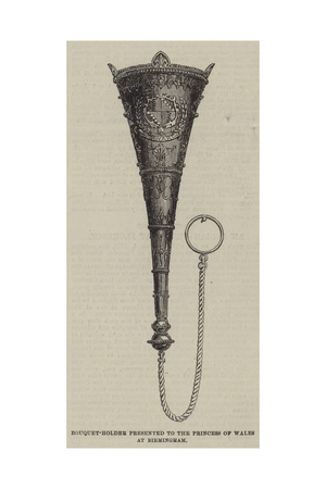 Bouquet-Holder Presented to the Princess of Wales at Birmingham Giclée-Druck