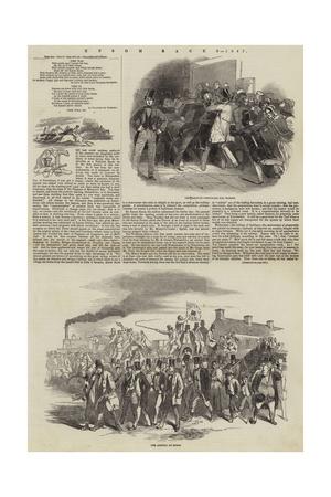 Epsom Races, 1847 Giclee Print