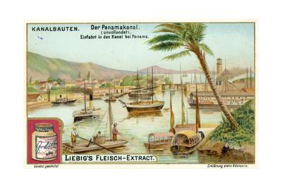 Entrance to the Panama Canal, Panama City Giclee Print