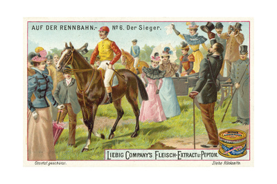 At the Racecourse: the Winner Giclee Print