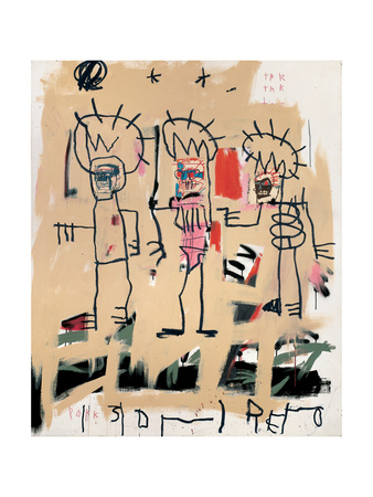 Untitled (Three Kings) Giclee Print by Jean-Michel Basquiat