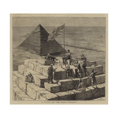 A Picnic on the Great Pyramid Giclee Print