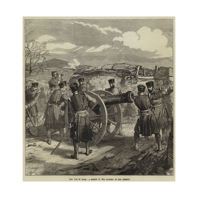 The War in Spain, a Sketch in the Battery of San Lorenzo Giclee Print