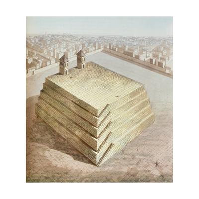 A Mexican Teocalli, C.1820 Giclee Print