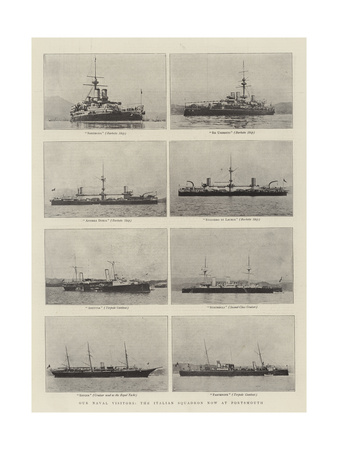 Our Naval Visitors, the Italian Squadron Now at Portsmouth Giclee Print