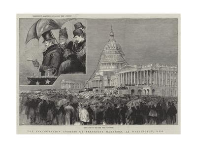 The Inauguration Address of President Harrison, at Washington, Usa Giclee Print