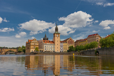 Old Town Water-Tower (1577) in Prague. UNESCO Site Photographic Print by  joymsk