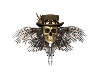 Steampunk Skull Posters by  AlienCat