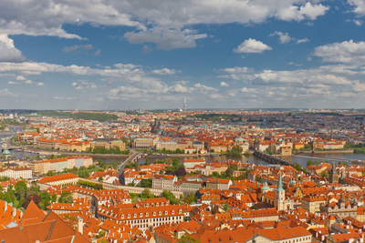 Aerial View of Old City Center of Prague (Unesco Site) Photographic Print by  joymsk