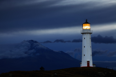 Cape Egmont Lighthouse, New Zealand Stampa fotografica di Dmitry Pichugin