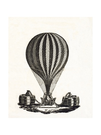 Filling a Hot Air Balloon with Gas, C.1790 Giclee Print