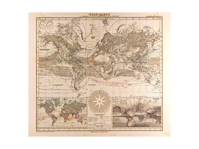 World Map, 1872 Giclee Print