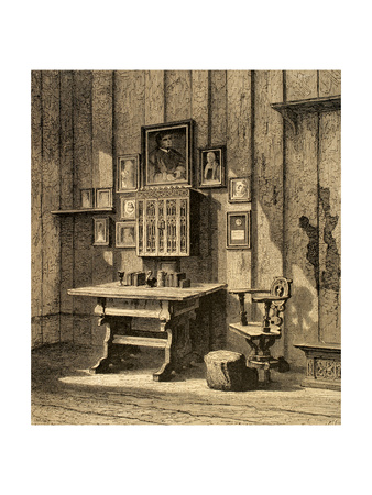 Room of Martin Luther (1483-1546) at Wartburg.. Germany Giclee Print