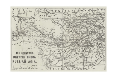 The Countries Between British India and Russian Asia Giclee Print