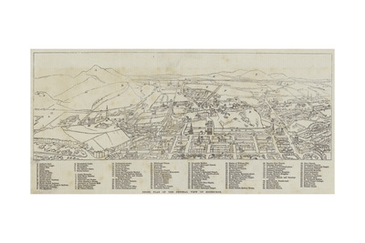 Index Plan of the General View of Edinburgh Giclee Print