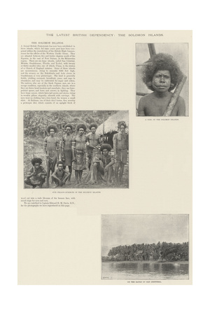 The Latest British Dependency, the Solomon Islands Giclee Print
