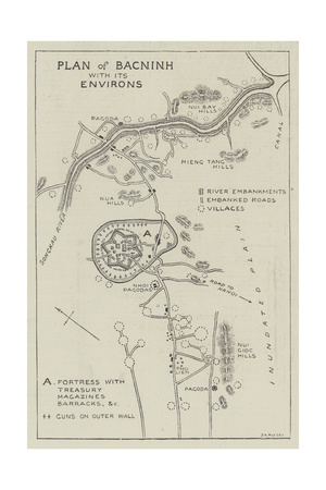 Plan of Bacninh with its Environs Giclee Print