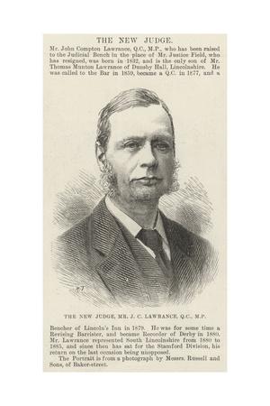 The New Judge, Mr J C Lawrance Giclee Print