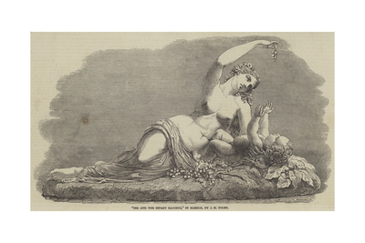 Ino and the Infant Bacchus, in Marble Giclee Print